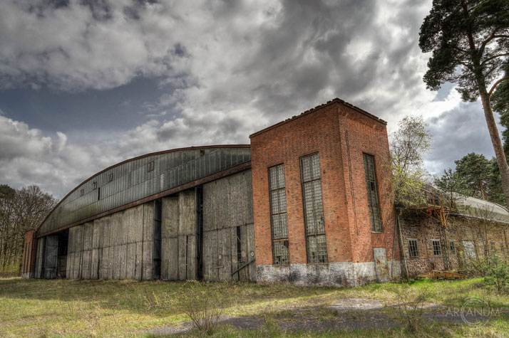 Hangar of an abandoned Soviet airfield in Eastern Germany