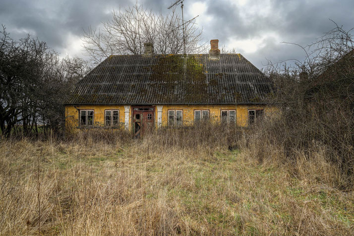 Small abandoned house in Denmark