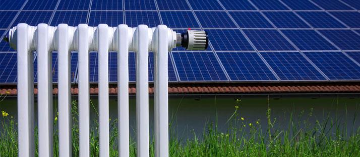 Solarenergie zur Heizungsunterstützung und Warmwasserbereitung