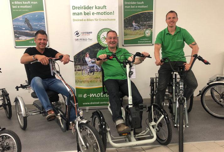 Ihr Team vom Dreirad-Zentrum in Wien