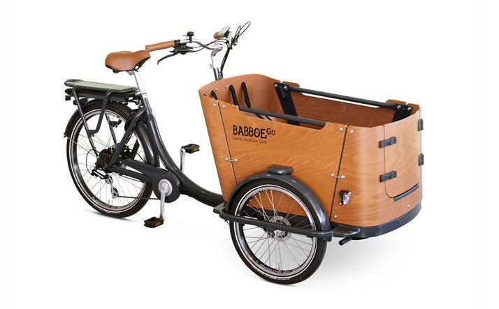 Babboe Go-E  Lasten e-Bike, Lastenfahrrad mit Elektromotor, e-Cargobike 2021