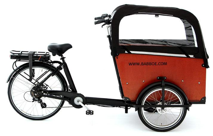 Babboe Big-E Lasten e-Bike, Lastenfahrrad mit Elektromotor, e-Cargobike 2021