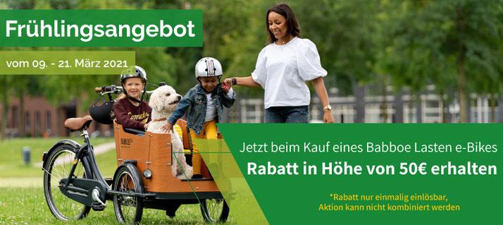 Frühlingsangebot von Babboe vom 09.-21-03.2021