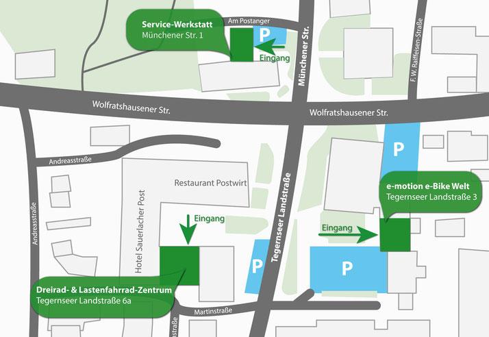 Karte für den Eingang zum Lastenfahrrad-Zentrum München Süd
