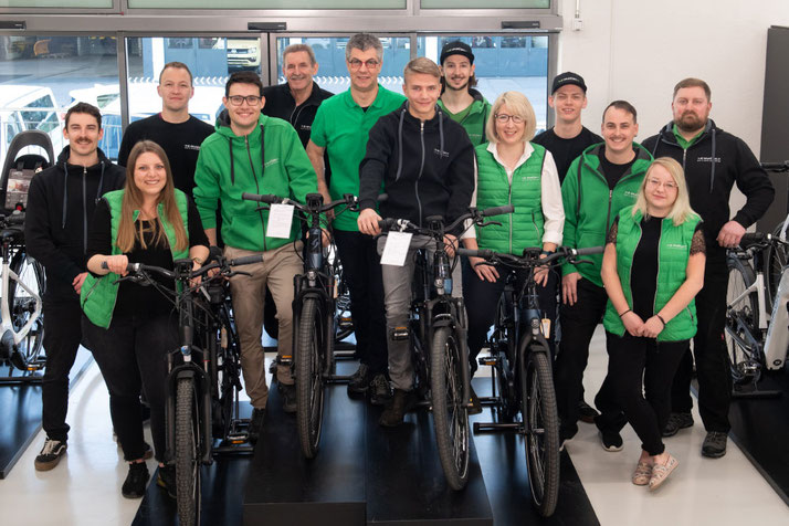 Das Team im Lastenfahrrad-Zentrum Dietikon - Schweiz