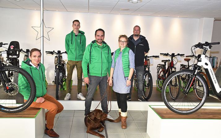Das Team des Lastenfahrrad-Zentrums Nordheide