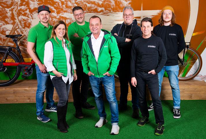 Das Team des Lastenfahrrad-Zentrums Bremen