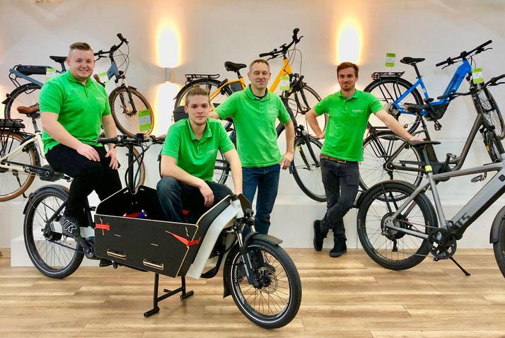 Unser Team des Lastenfahrrad-Zentrum Braunschweig