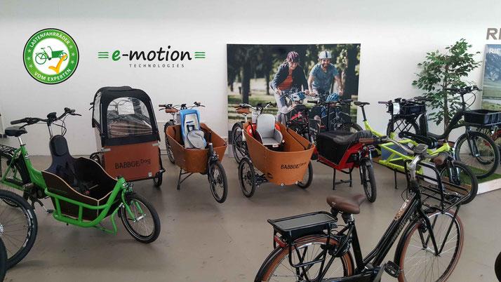 Lastenfahrräder, e-Cargobikes und Lasten e-Bikes kaufen, Probefahren und Services im Lastenfahrrad-Zentrum Gießen
