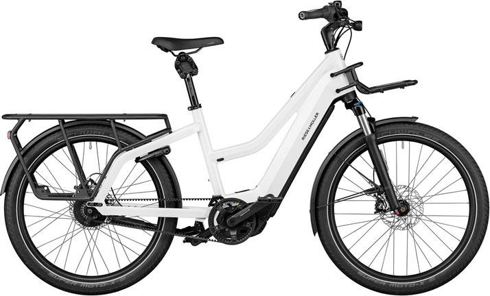 Riese & Müller Multicharger Mixte GT Rohloff 2021, Trekking e-Bike in pear white, black matt