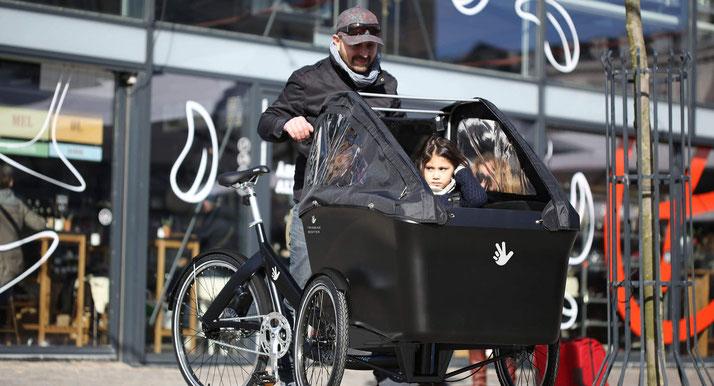 Lastenrad Probe fahren