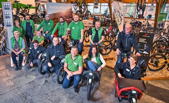 Das Team im Lastenfahrrad-Zentrum Ahrensburg