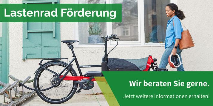 Lasten e-Bike Förderung im Lastenfahrrad-Zentrum Karlsruhe