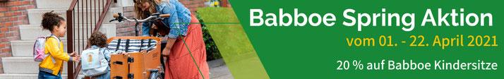 Babboe Spring Aktion vom 01. - 22. April 2021