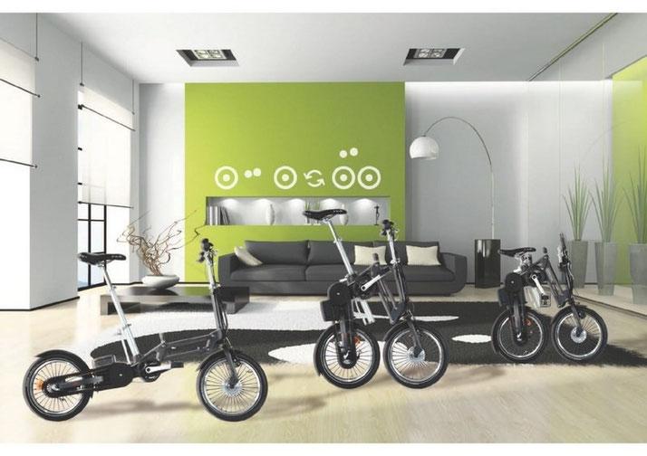 Mobiky Falträder Klapprad mit Elektromotor