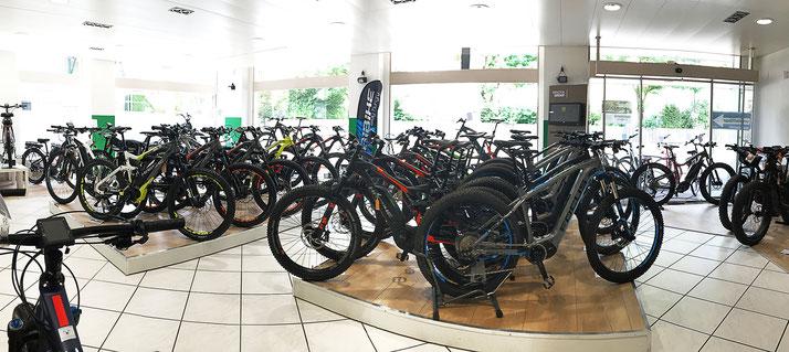 e-Bikes in der e-motion e-Bike Welt Dietikon