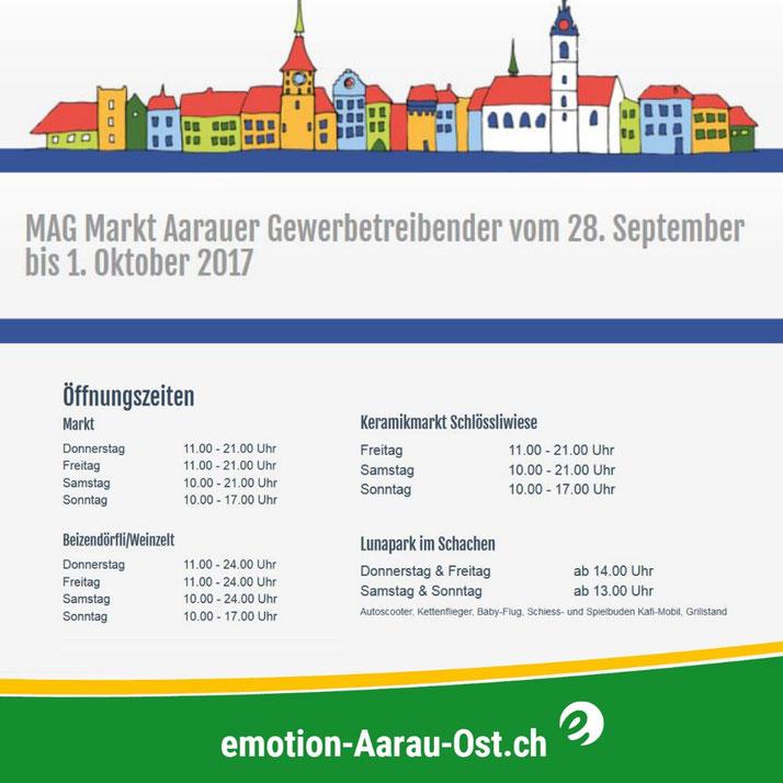 MAG Markt Aarauer Gewerbetreibender vom 28. September bis 1. Oktober 2017
