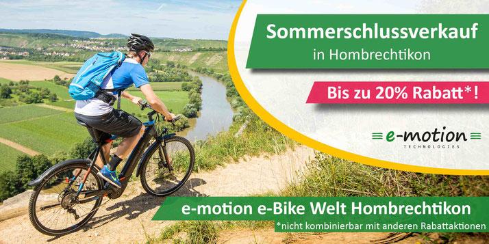 e-Bike Wintersale in Hombrechtikon: Viele e-Bikes, Pedelecs und Speed-Pedelecs bis zu 20% reduziert kaufen in Hombrechtikon!