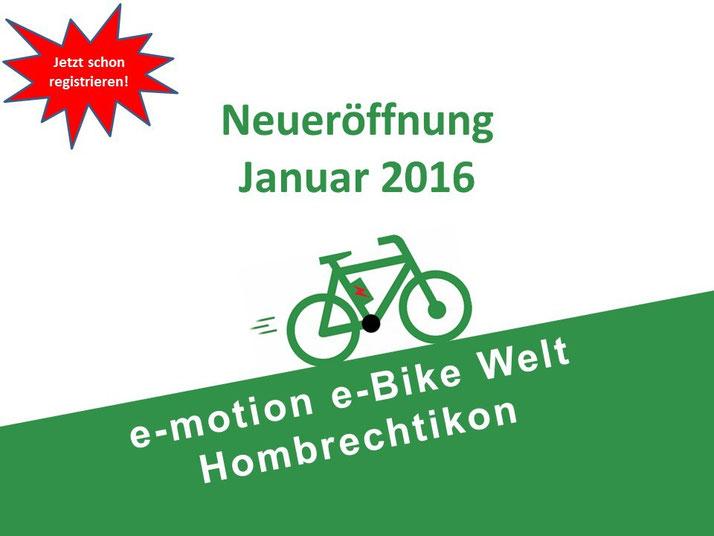 Neueröffnung e-motion e-Bike Welt Hombrechtikon