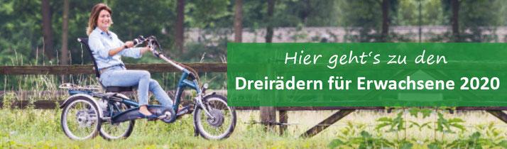 Dreiräder und Elektro-Dreiräder für Erwachsene