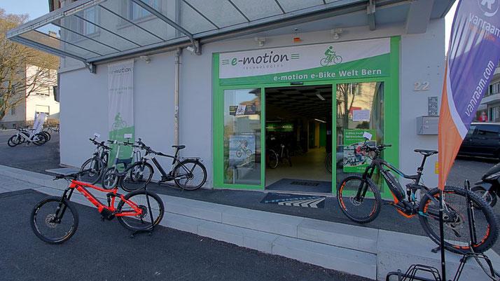 Elektrofahrrad kaufen in der e-motion e-Bike Welt Bern