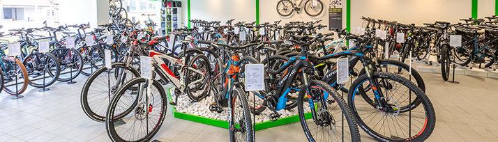 e-Bikes im e-motion Shop Aarau-Ost