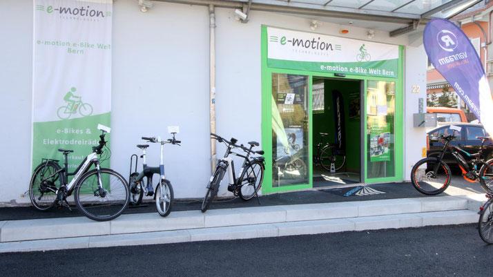 e-Bikes kaufen und kostenlos Probefahren in der e-motion e-Bike Welt Bern