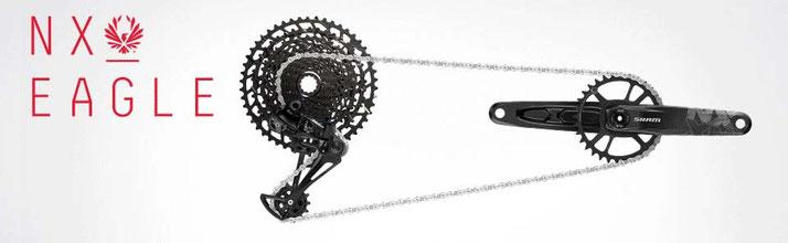 Die NX Eagle Ketten Schaltung für e-Bikes von SRAM ist besonders robust und haltbar