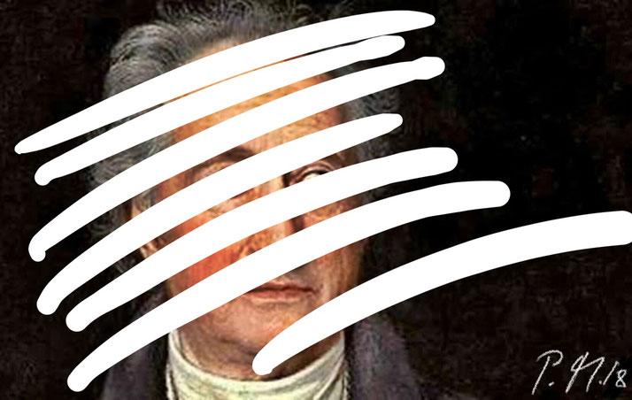 Pedro Meier – Johann Wolfgang Goethe – »Intervention in WEISS« Paraphrase, Artwork by Pedro Meier Swiss-German Multimedia Artist – DiaryArt – MailArt – DigitalArt – Artists' Books Künstlerbuch – SelfieArt – Bangkok Museum MoMA – FLUXUS DADA, SIKART Zürich