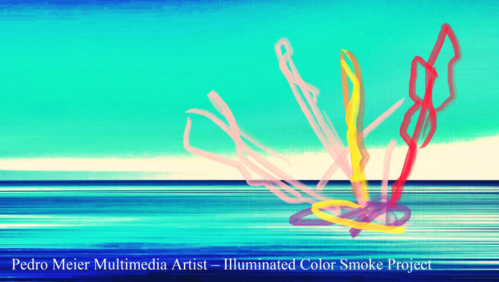 Pedro Meier – Illuminated Color Smoke Project Nr. 8, 2017 – Land art, minimal art, conceptual art, Earth art, spirituality – Member VISARTE, IAA AIAP UNESCO, Artforum, – Photo © Pedro Meier / ProLitteris Multimedia Artist Niederbipp, Switzerland – Bangkok