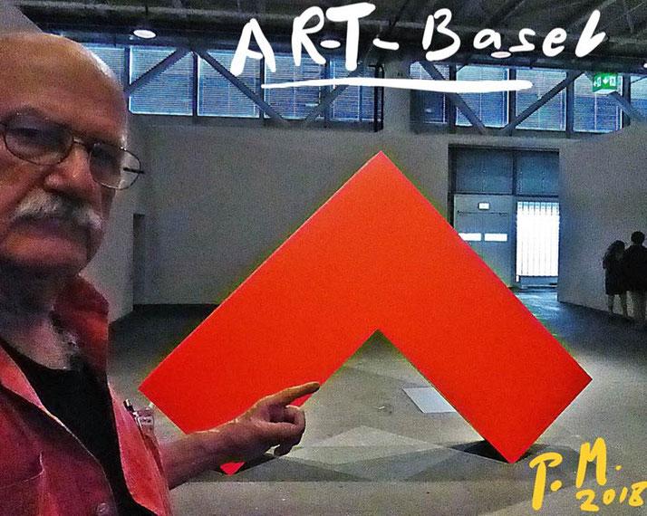 Pedro Meier Art Basel 2018 – Skulptur in ROT – Pedro Meier Swiss-German Multimedia Artist – Intervention – Paraphrase – DiaryArt – MailArt – DigitalArt – Artists' Books – Künstlerbuch – PhotoArt – Museum MoMA – FLUXUS DADA – SelfieArt – SIKART Zürich
