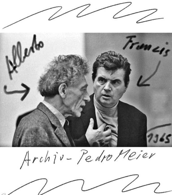 Pedro Meier – Alberto Giacometti – Francis Bacon 1965 – DiaryArt – MailArt – DigitalArt – Artists' Books Künstlerbuch – Museum MoMA – FLUXUS DADA – SelfieArt – PhotoArt-Archiv Pedro Meier Swiss-German Multimedia Artist – Bangkok-Atelier – SIKART Zürich