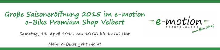 e-motion Velbert feiert große Saisoneröffnung am 11. April 2015