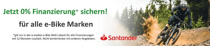 0%-Finanzierung für e-Bikes, Pedelecs und Elektrofahrräder bei den e-motion e-Bike Experten in Lübeck