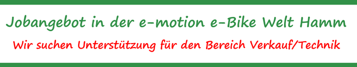 Jobangebote e-motion e-Bike Welt Hamm