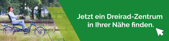 Van Raam oder Pfau-Tec Dreiräder und Elektro-Dreiräder kaufen, Beratung und Probefahrten in Düsseldorf