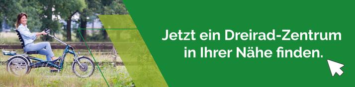 Van Raam oder Pfau-Tec Dreiräder und Elektro-Dreiräder kaufen, Beratung und Probefahrten in Freiburg Süd