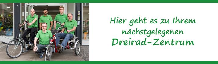 Van Raam oder Pfau-Tec Dreiräder und Elektro-Dreiräder kaufen, Beratung und Probefahrten in Nürnberg