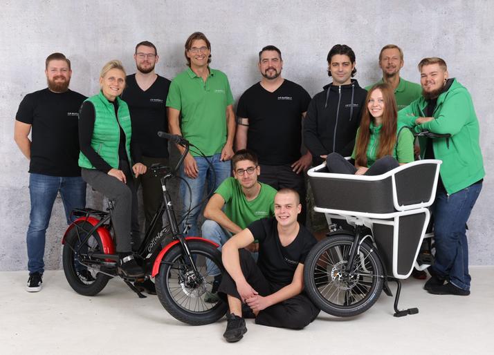 Das Team des Lastenfahrrad-Zentrums Bonn
