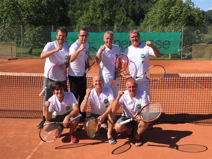 Hinten: Markus Maurer, Marcus Krispin, Sven Erdmann, Gernot Gent. Vorne: Tobi Antonicelli, Enrico Tech, Thomas Kiefer