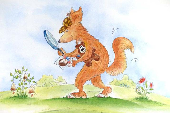 Ein Tierportrait der besonderen Art - Hund als Sherlock Holmes