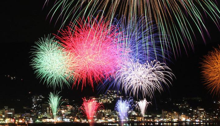 kazenokaori hotel shizuoka japan fireworks