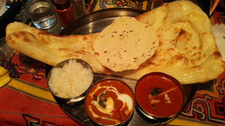 NEW DELHI SPECIAL Look at the size of plain nan!  All rights reserved by onegai kaeru
