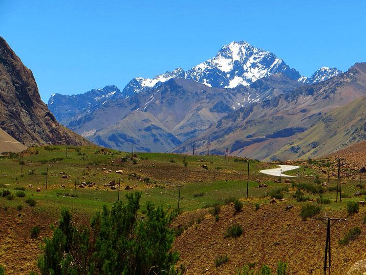 Der Anconcagua, mit fast 7000 m der höchste Berg Südamerikas.