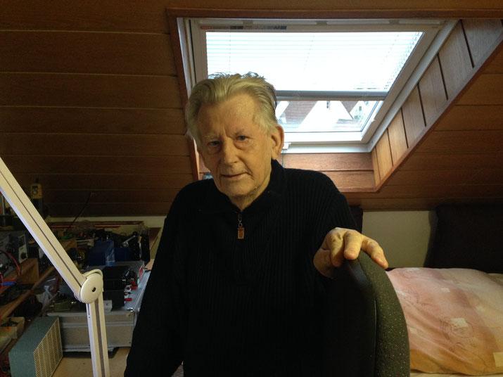 16.01.2015 Gerhard Schmale wenige Wochen vor seinem Tod zu Hause.