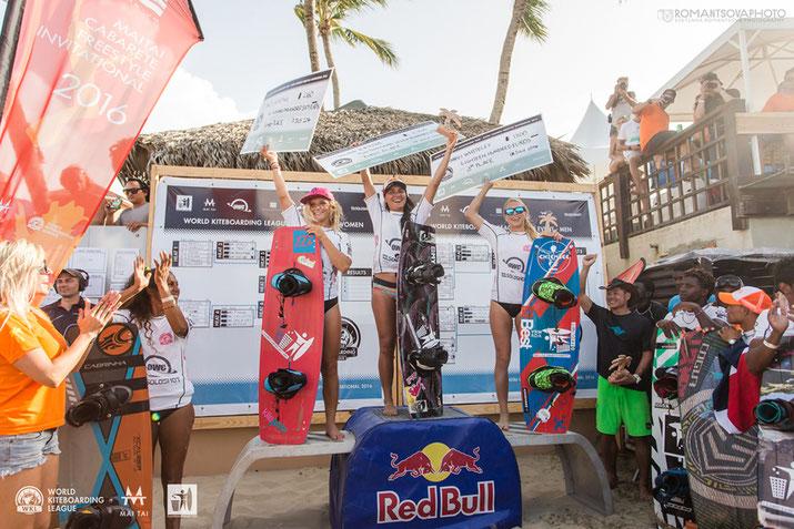 Women's winners Cabarete World Kiteboarding League