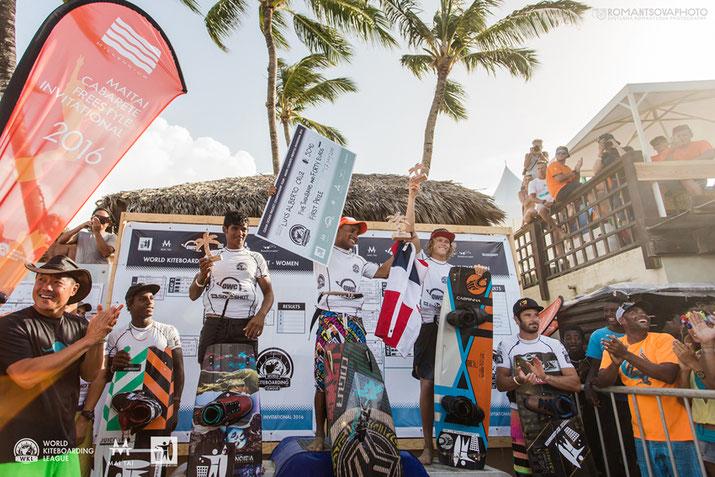 Cabarete World Kiteboarding League podium