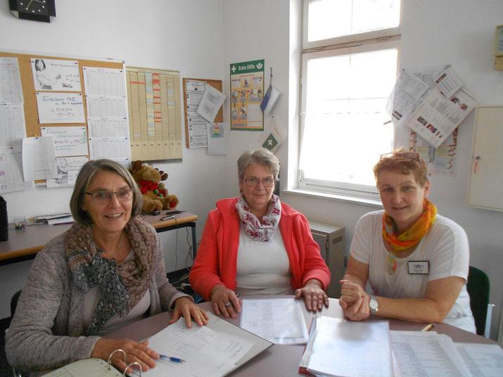 Das Team des Demenzgruppe: Frau Friedrich, Frau Spildener und Frau Fricker (von links)