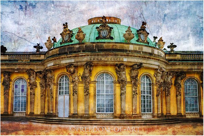 Schloss Sans Souci   -   im Format 100x150cm