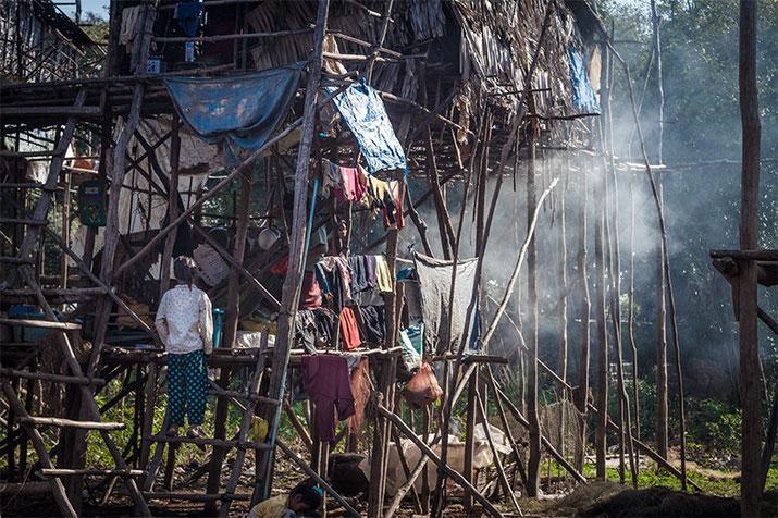 Kompong Phluk por la mañana